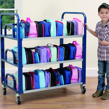 Steel Frame Double Lunchbox Trolley  medium