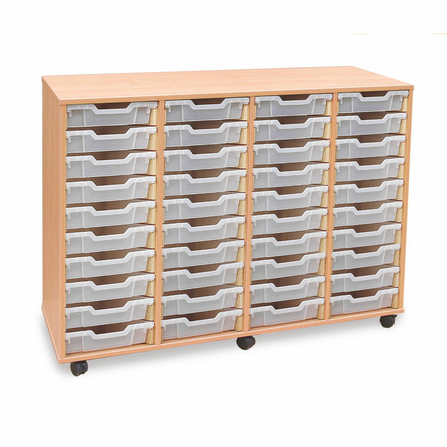 Awesome Mobile Tray Storage Unit With 40 Shallow Trays