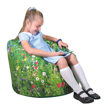 Nature Printed Children's Bean Bag  medium