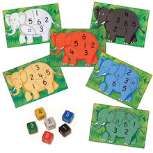 Rainbow Elephant Jigsaws 6pk  medium