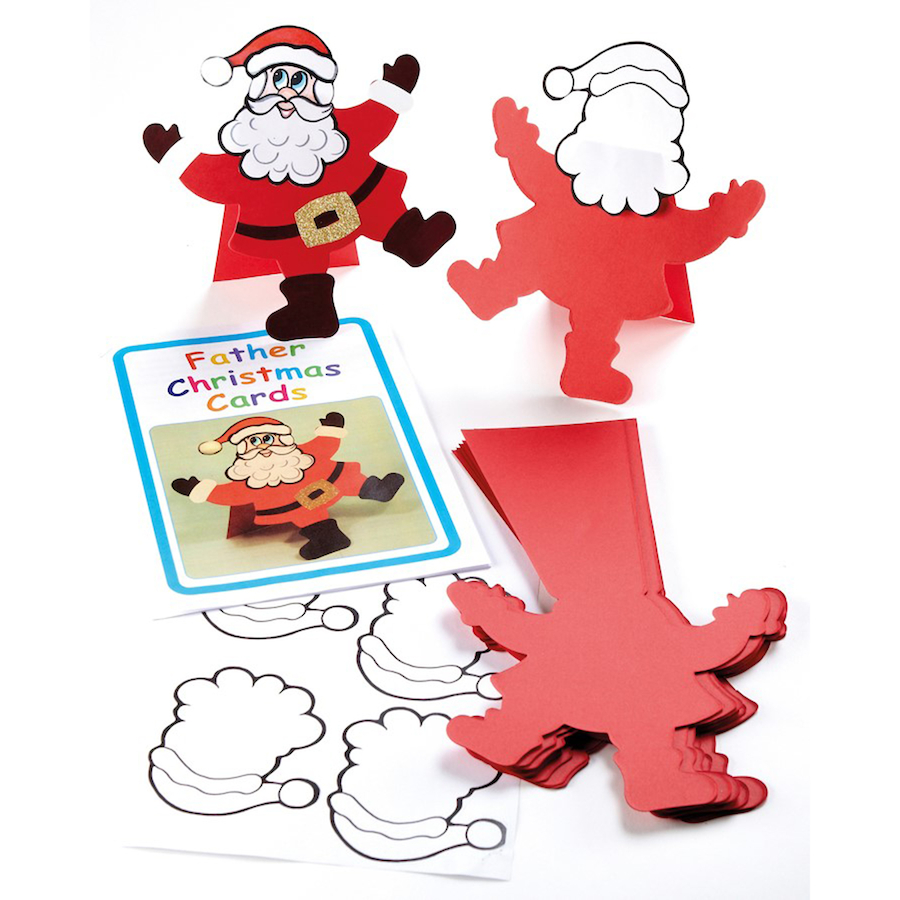 Buy Precut Father Christmas Cards 30pk | TTS International