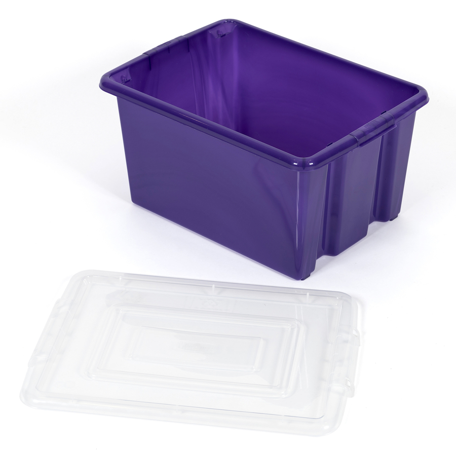 ... Stack And Store Plastic Storage Box Lid Small