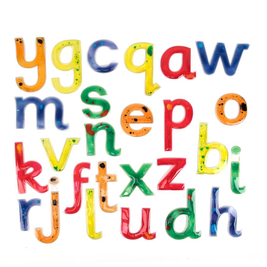 buy squidgy sparkle transparent gel alphabet letters tts international