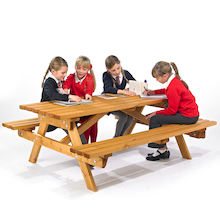 Rectangular Junior Height Picnic Bench  medium