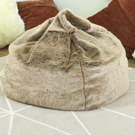 Super Buy Faux Fur Beanbag Tts International Machost Co Dining Chair Design Ideas Machostcouk