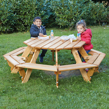 Outdoor Eight Seater Octagonal Picnic Bench  medium