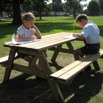Buy Rectangular Wooden Picnic Table TTS International - Large wooden picnic table