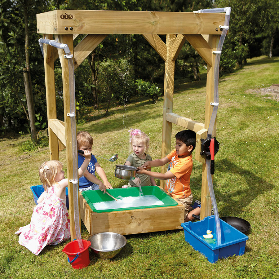 ... Outdoor Wooden Cascading Water Frame Small