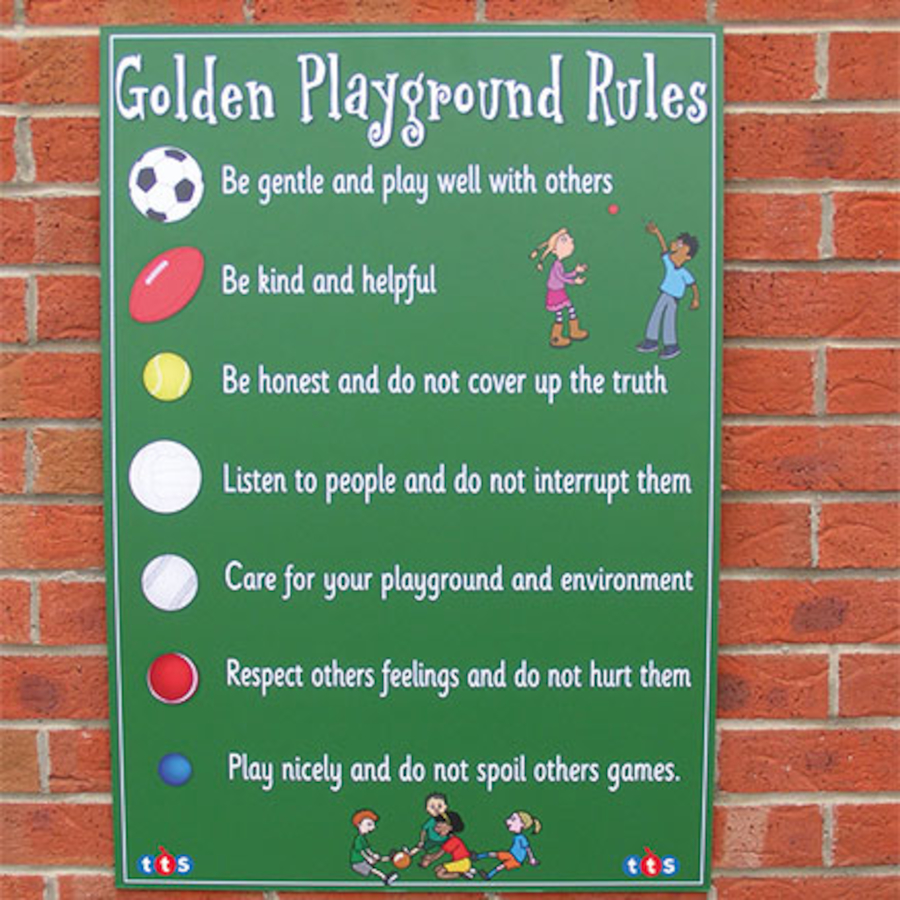 buy playground rules signboard tts international