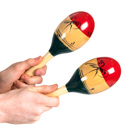 buy tri colour maracas tts international