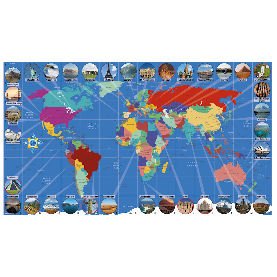 Australia Map Landmarks.World Landmarks Map Signboards