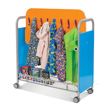 32 Hook Metal Cloakroom Trolley  medium