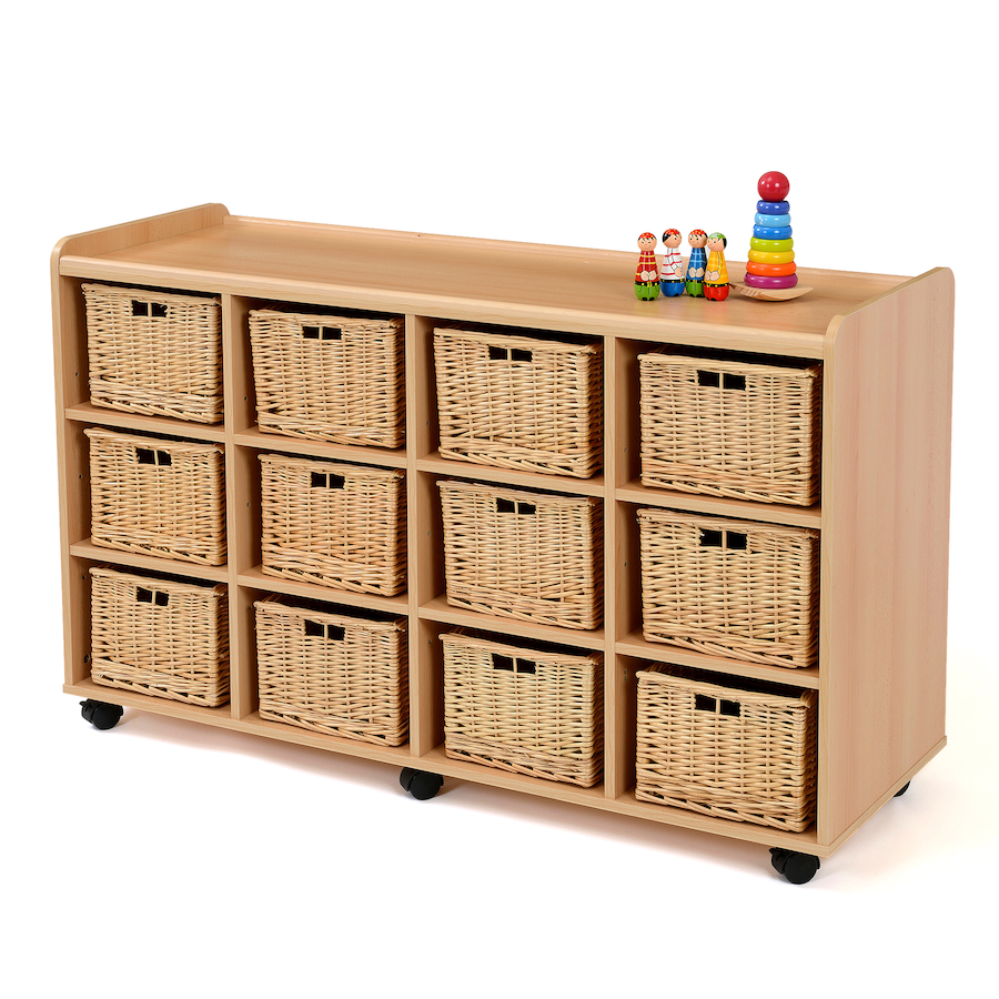 Storage Unit with 12 Deep Wicker Baskets  sc 1 st  TTS & Buy Storage Unit with 12 Deep Wicker Baskets | TTS International