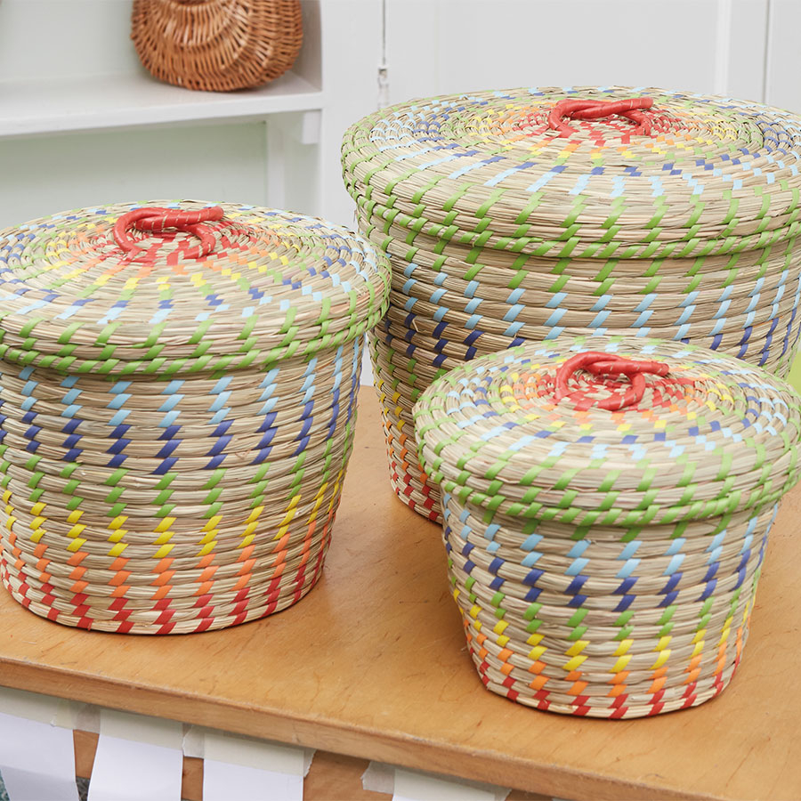 Colourful Nesting Storage Baskets 3pk Large TTS School Resources Online Shop