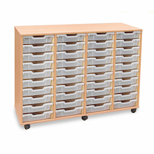 Mobile Tray Storage Unit With 40 Shallow Trays  medium