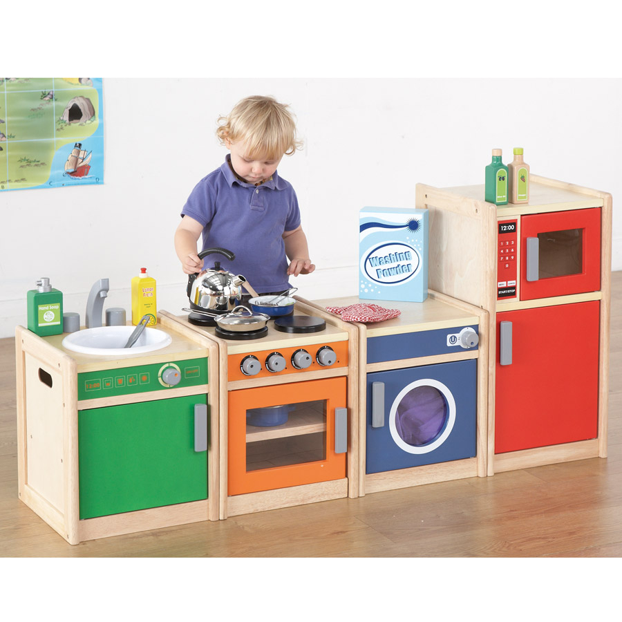 buy toddler role play kitchen range tts international. Black Bedroom Furniture Sets. Home Design Ideas