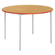 Fully Welded Tables Coloured Edge Circular  medium