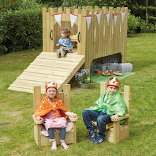 Outdoor Wooden Role Play Castle and Thrones  medium
