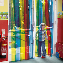 Rainbow Transparent Free Flow Curtains  medium