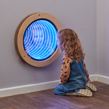 Light Up Circular Infinity Mirror  medium
