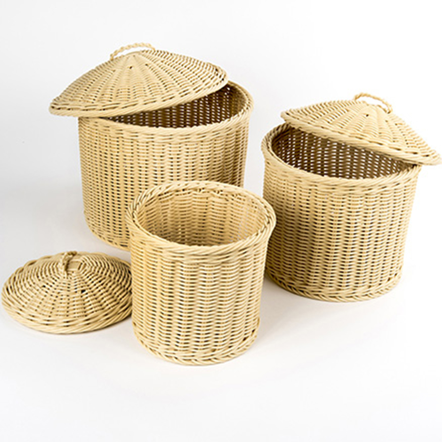 Gentil ... Woven Nesting Storage Baskets With Lids 3pk Small ...