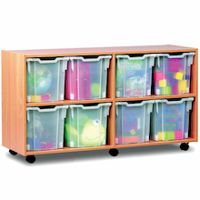 Mobile Tray Storage Unit With 8 Jumbo Trays  medium