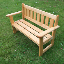 Outdoor Wooden Infant Height Bench  medium
