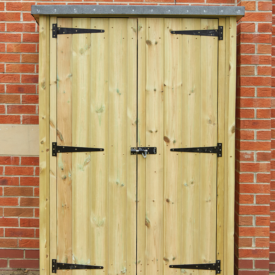 ... Outdoor Wooden Lockable Storage Cupboard Small ...