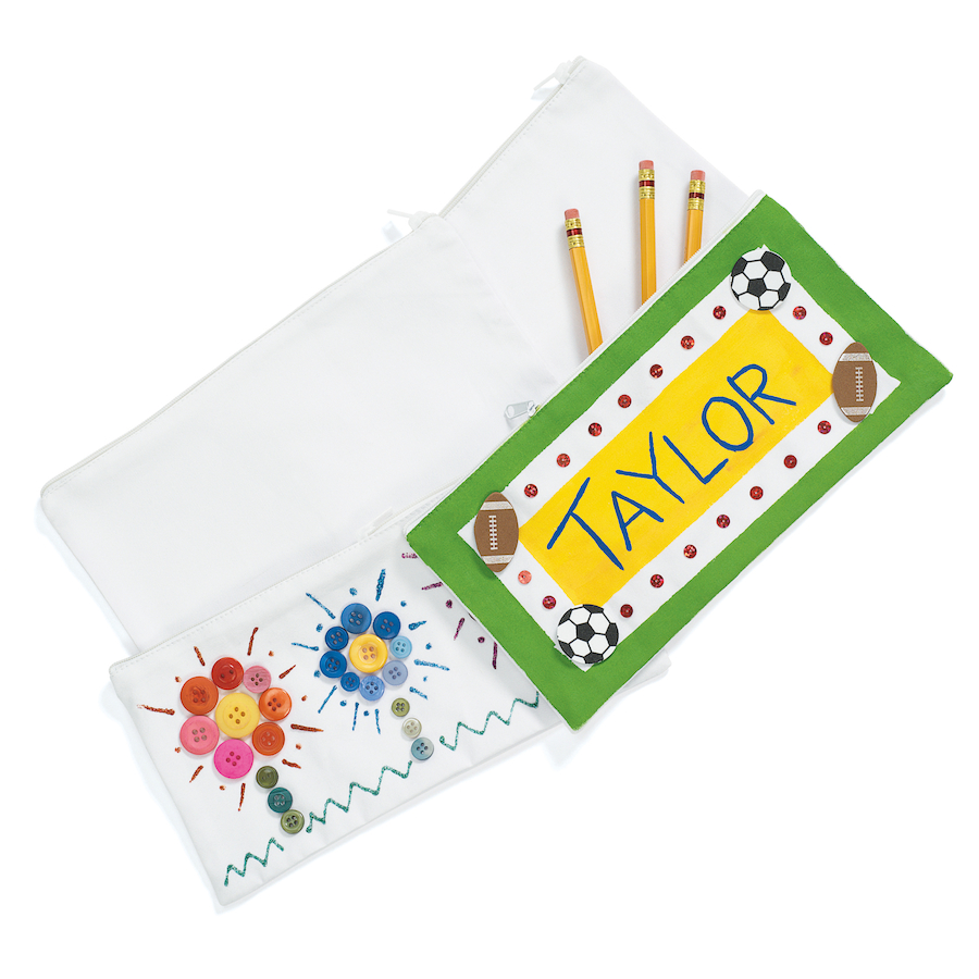 Buy Decorate Your Own Canvas Pencil Case White 12pk Tts International