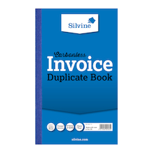 Silvine Duplicate Invoice Book 6pk  medium