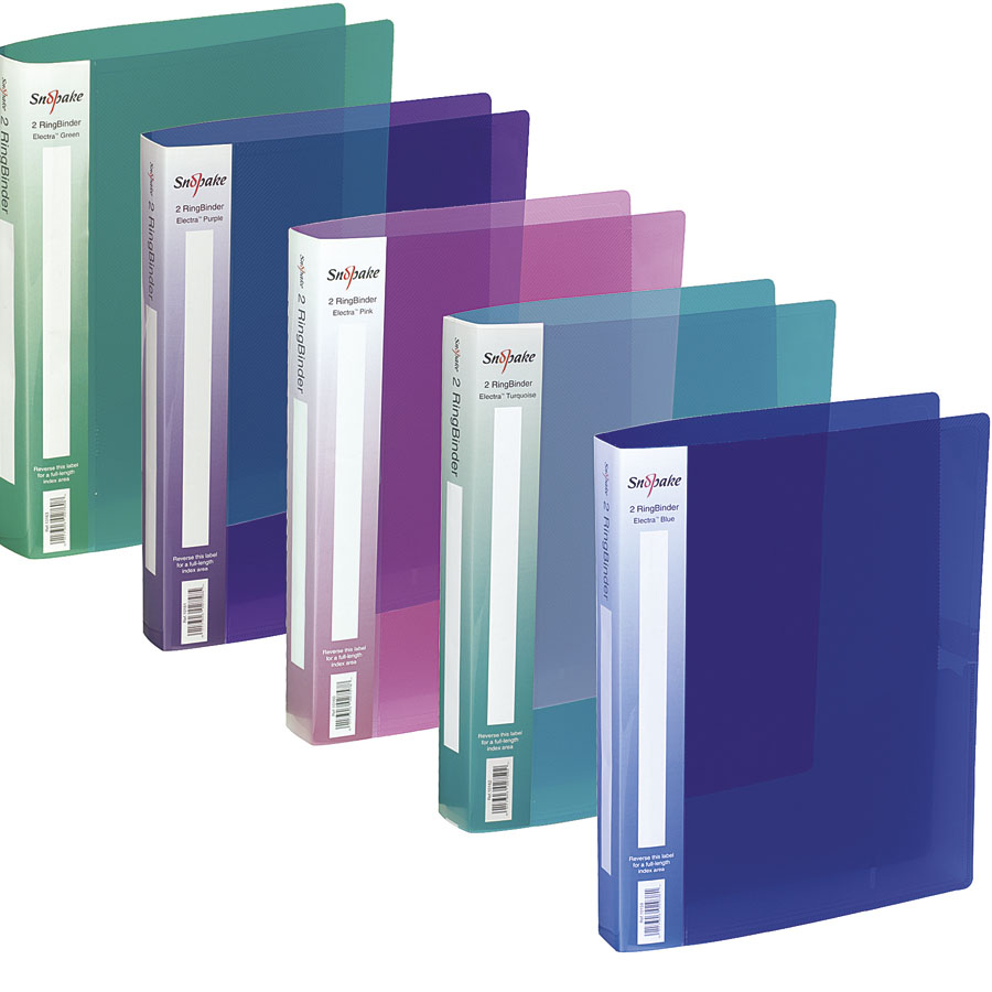 buy assorted a4 snopake ring binder folders