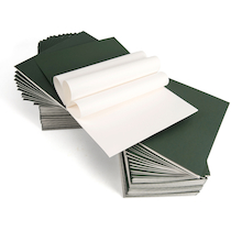 Pisces Plain Stapled Sketchbooks A4 Green 120gsm 100pk  medium