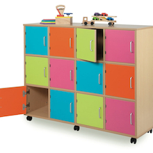 Bubblegum 12 Door Wooden Locker Unit  medium