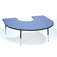 Height Adjustable Horseshoe Classroom Table  medium