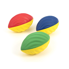 Soft Tactile Foam Rugby Ball 3pk  medium