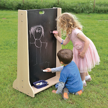 Wooden Outdoor Mark Making Chalkboard Panel  medium