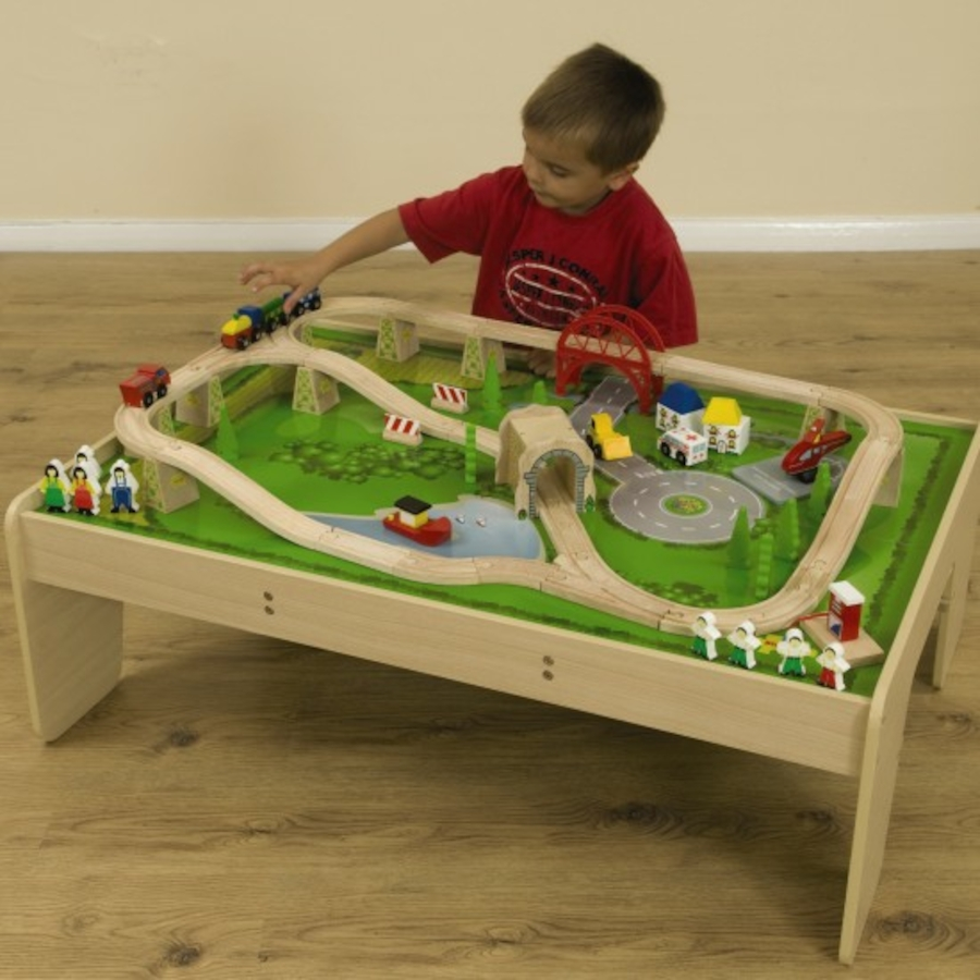 Buy Small World Wooden Train Set and Table | TTS International