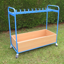 Double Sided Blue Cloakroom Trolley  medium