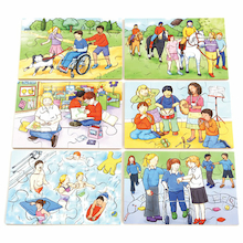 Illustrated Inclusion Jigsaw Puzzle 6pk  medium