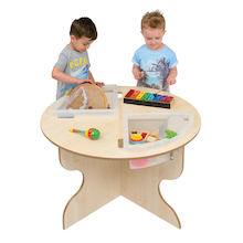 Round Indoor Table with Inset Trays  medium