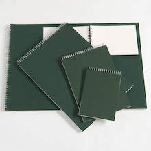 Pisces Spiral Sketchbooks Green A3 120gsm  medium