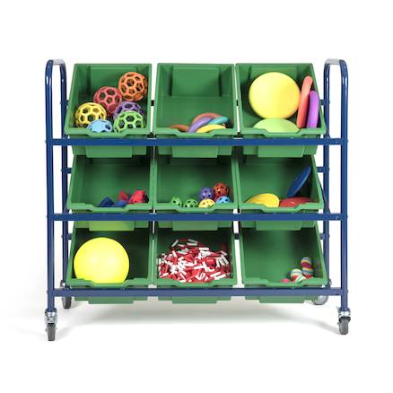 Metal Tilted Tray Trolley with Trays  large