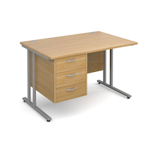 Maestro 25mm Three Drawer Rectangular Desks  medium