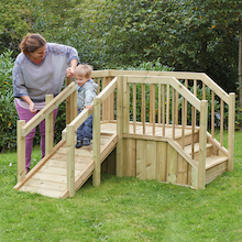 Outdoor Toddler Ramp and Steps  medium