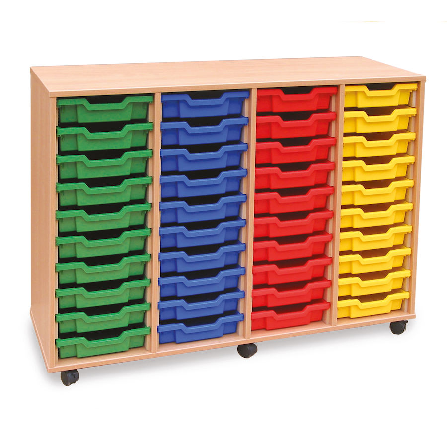 buy mobile tray storage unit with 40 shallow trays tts. Black Bedroom Furniture Sets. Home Design Ideas