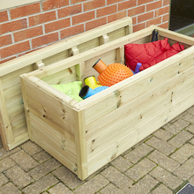 Outdoor Wooden Storage Chest  medium