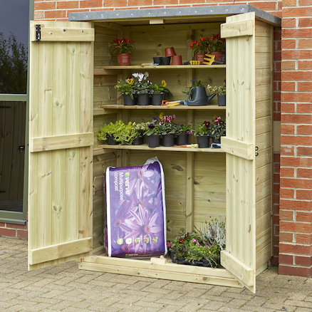 Outdoor Wooden Lockable Storage Cupboard Large ...