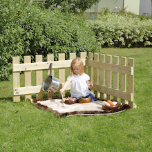 Toddler Outdoor Wooden Portable Fence Panels  medium