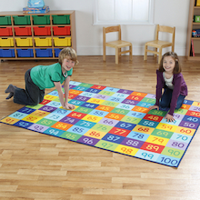 Rainbow Number Mats  medium