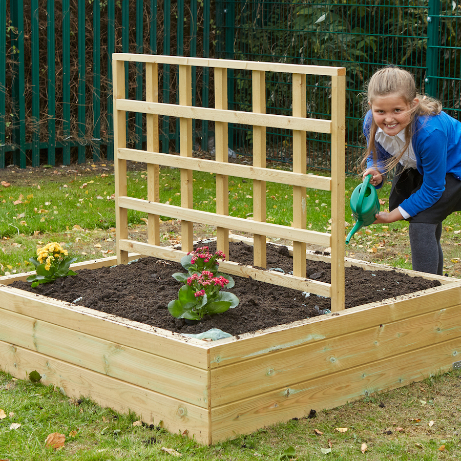 Buy Wooden Planters With Trellis Tts International
